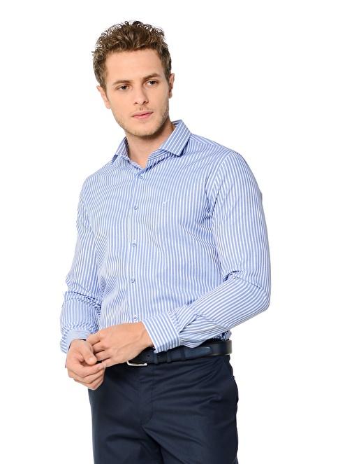 Wessi Uzun Kollu Slim Fit Gömlek Mavi